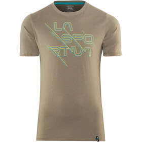 La Sportiva M's Sliced Logo T-Shirt Falcon Brown